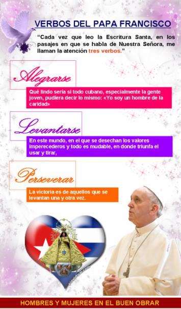 verbos del papa para Cuba