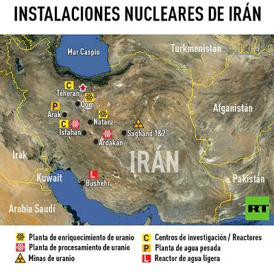instalaciones nucleares iran